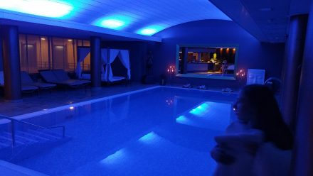 Evening visit to the top-floor spa & pool