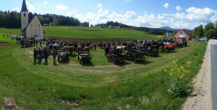 Rural Slovenia - horses getting their yearly benediction