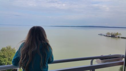 View from our hotel room - Balaton Lake