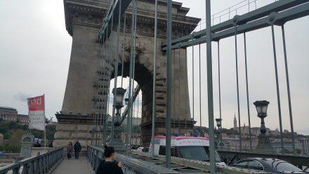 Budapest's famous chain bridge
