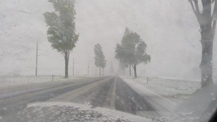Wind, snow - unbelievable weather conditions in Austria