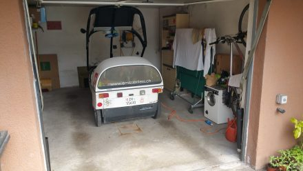 Finally, a day drying in a garage