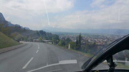 On our way back down to the lower Rhine valley - Dornbirn