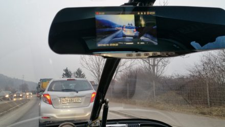 TW560's dashcam front and back cameras visible