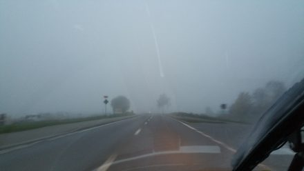 Paradoxically: Fog means sun above