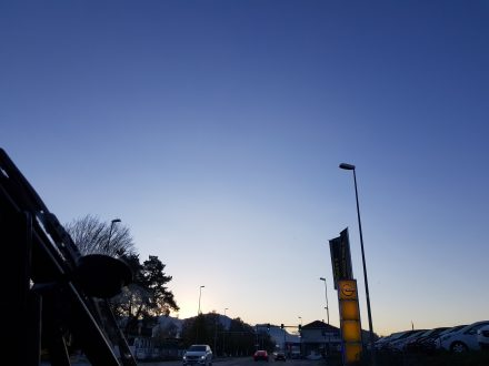 Deep blue sky - we're looking forward to driving today!