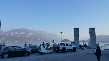 Waiting for the ferry in Menaggio