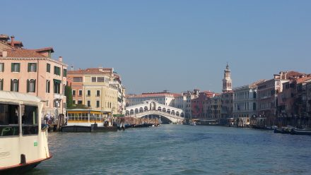 One of the best known sights: Rialto bridge