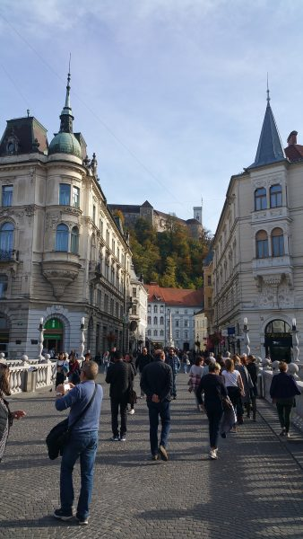 Ljubljana old town and castle