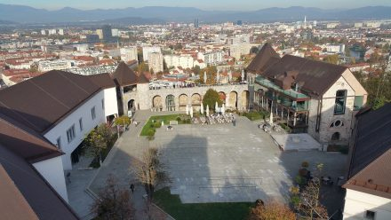 Ljubljana castle from above.