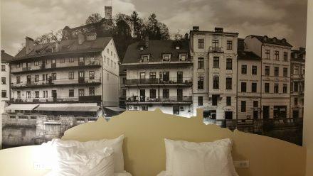 Sleeping tight below the castle