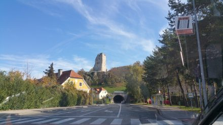 Crossing under a medieval castle