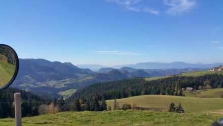 Austrian alps in the background