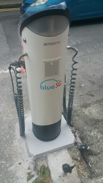 The only (non-functional) charging station I saw in Singapore