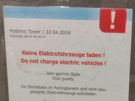 no charging!