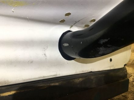 Larger holes to avoid abrasion