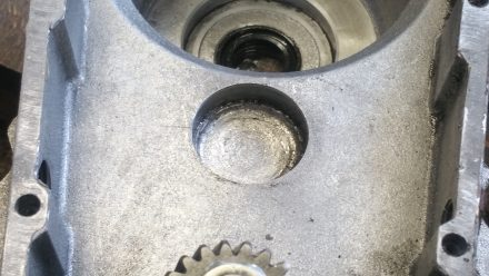 Clean and ready for a new ball bearing