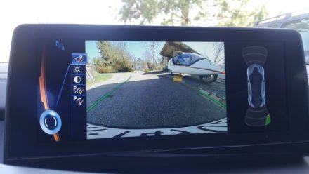 Oh, what's this in the rear view camera?