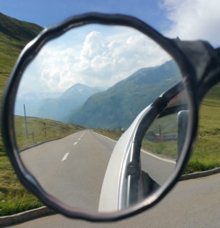 Driving up the Oberalp pass