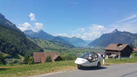 Postcard Switzerland - Brunnen and Lake Lucerne