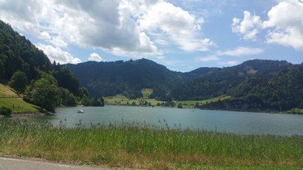 Lake Sihl - high above Zurich