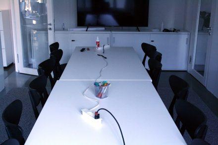Meeting room charging...