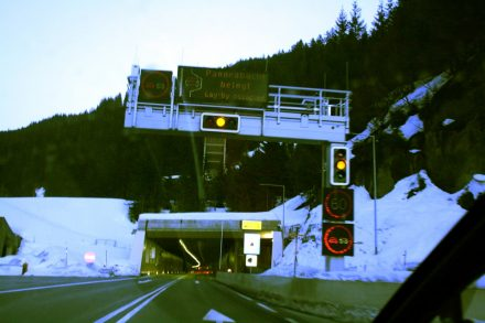 Entering the Arlberg Tunnel