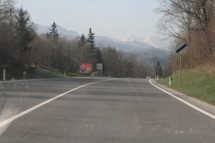 The Alps coming into view