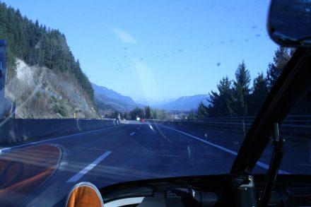 Driving towards Villach