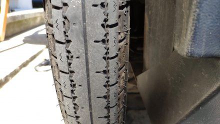 State of my tyres June 29 - still thousands of miles on them!