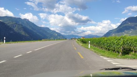 Perfect road surface - driving towards Martigny
