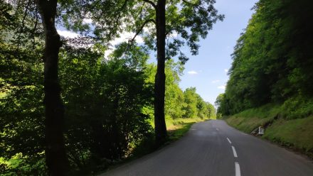 Dreamy French countryside roads