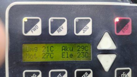 Early morning check - all temperatures still nominal