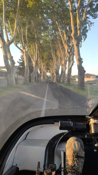 Early morning driving in France