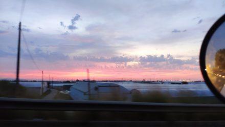 Pre-Dawn colors over Barcelona