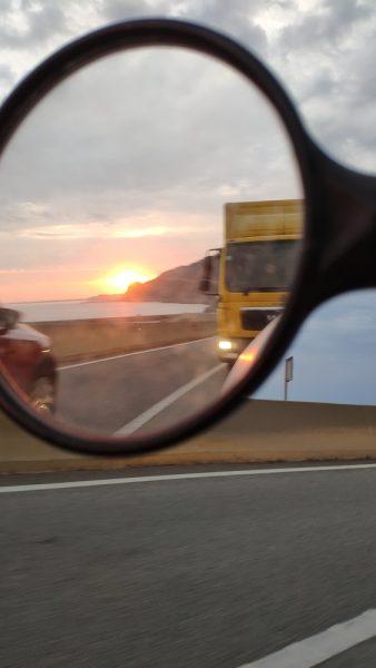 Sunrise over the coast