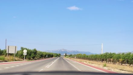 Perfect road surface, looking forward to the hills