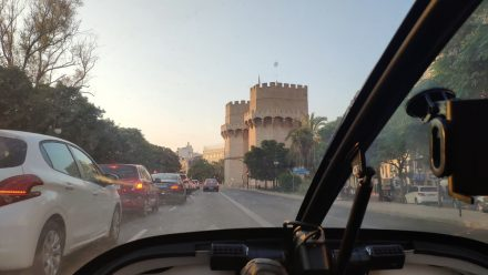 Morning traffic in Valencia