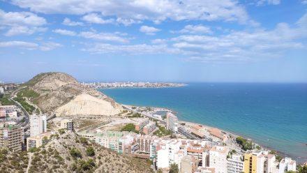 Playa de San Juan in the background