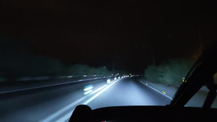 6 am - driving in the dark