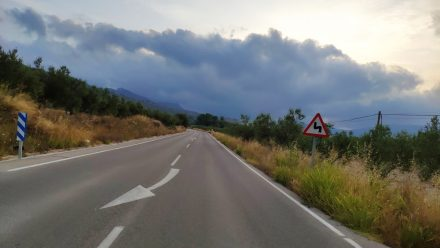 Once more, driving towards the clouds