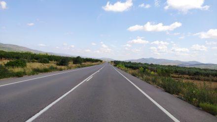 Enjoying long straight roads