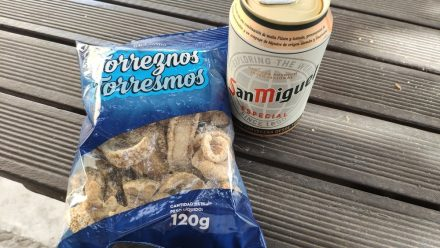 Ah - Pork scratchings and a beer