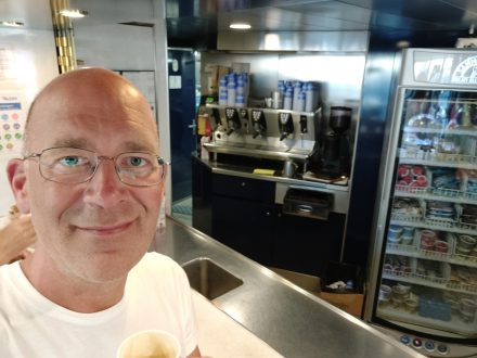 Daily pic of me - happy with Italian Espresso