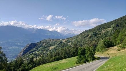 Very picturesque road up to Seb's