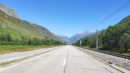 Driving towards Andermatt