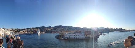 Genoa port and a brilliant new day