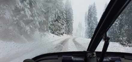 Difficult road conditions
