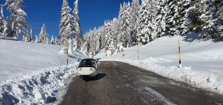 Winter wonderland in northern Italy