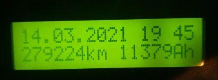 Current discharge total